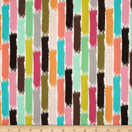 Michael Miller Paint Brush Stroke Sorbet Fabric By The Yard