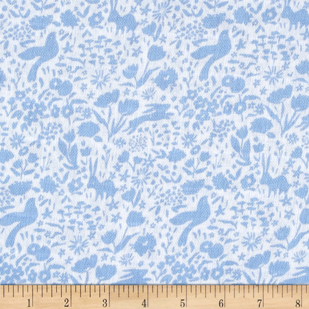 Michael Miller Sommer Double Gauze Shadow Garden Blue Fabric By The Yard