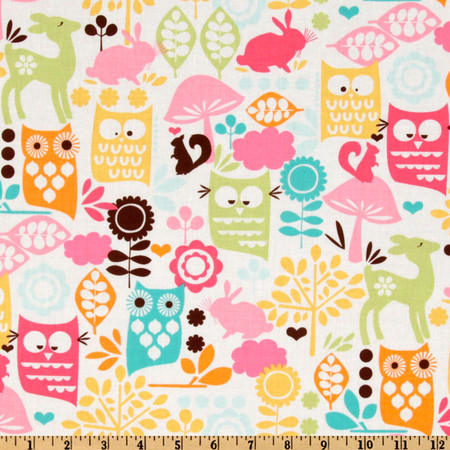 Michael Miller Sorbet Forest Life Watermelon Fabric