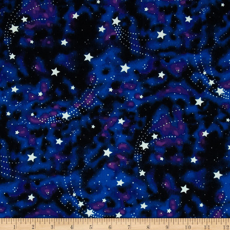 Michael Miller Star Magic Glow in the Dark Nite Fabric By The Yard
