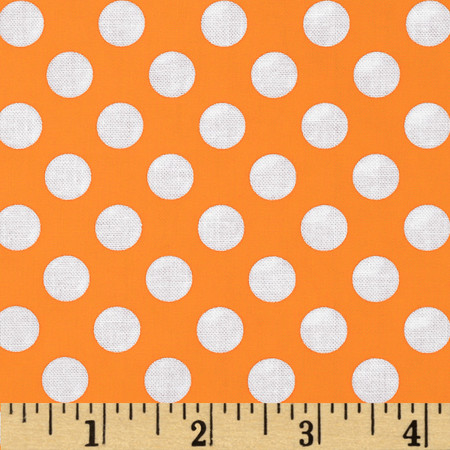 Michael Miller Ta Dot Apricot Fabric