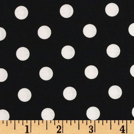 Michael Miller That's It Dot Black Fabric By The Yard