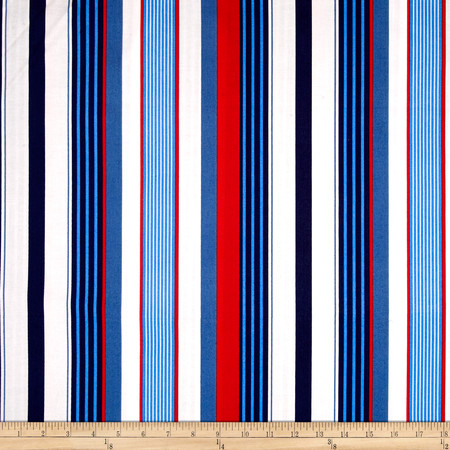 Michael Miller Yacht Club Starboard Stripe Sailor Fabric By The Yard