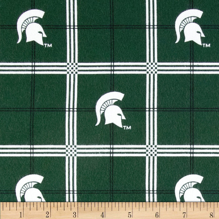 Michigan State University Plaid Fabric By The Yard