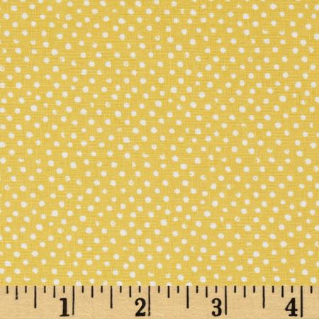Mini Confetti Dot Gold Fabric