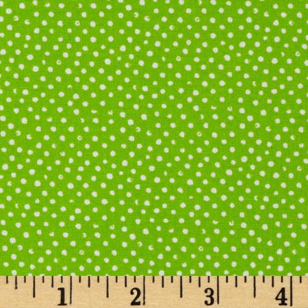 Mini Confetti Dot Lime Fabric