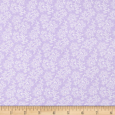 Mini Floral Lilac/White Fabric By The Yard