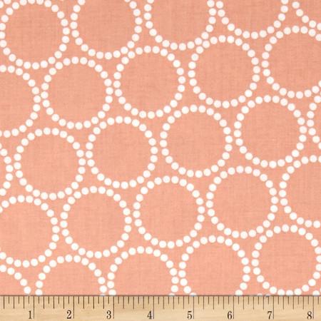 Mini Pearl Bracelets Peach Fabric By The Yard