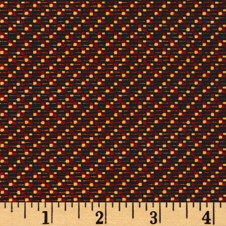 Miniature Dots Brown/Red/Yellow Fabric By The Yard