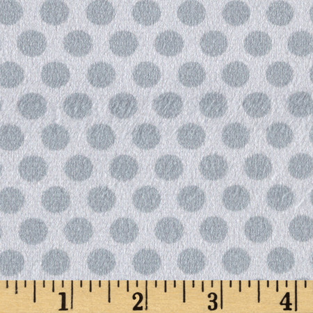 Minky 2 Tone Dot Grey Fabric By The Yard