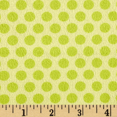 Minky 2 Tone Dot Lime Fabric By The Yard