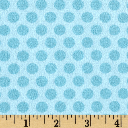 Minky 2 Tone Dot Turquoise Fabric By The Yard