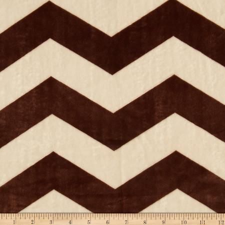 Minky Chevron Cream/Brown Fabric
