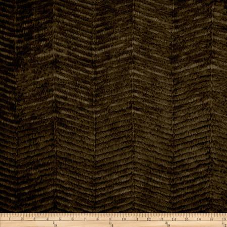 Minky Chevron Snuggle Dark Chocolate Fabric