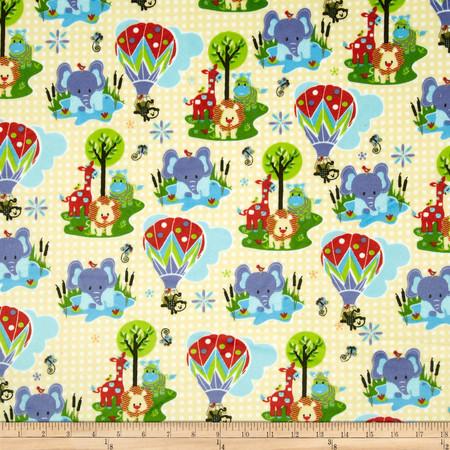 Minky Circus Balloon Multi Fabric