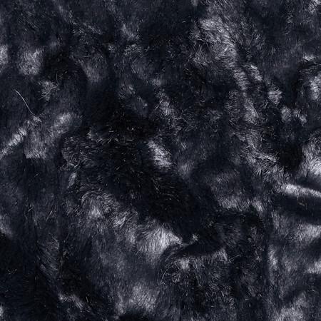 Minky Crushed Cuddle Black Fabric