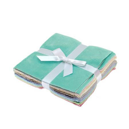 Minky Cuddle Pretty Pastels Solids 5'' Charm Packs