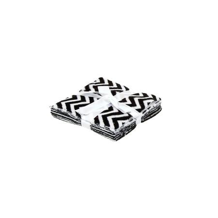 Minky Cuddle Charms 5'' Cuddle 3 Asst. Black & White/Multi Black-White