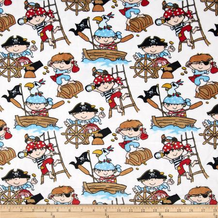 Minky Cuddle Classic Kids Ahoy Snow Fabric