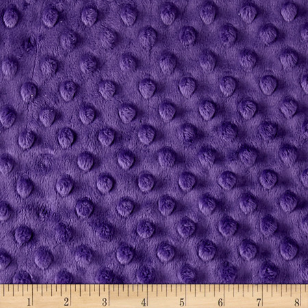 Minky Cuddle Dimple Dot 90'' Amethyst Fabric By The Yard