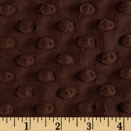 Minky Cuddle Dimple Dot Chocolate Fabric By The Yard