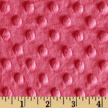 Minky Cuddle Dimple Dot Fuchsia Pink Fabric By The Yard