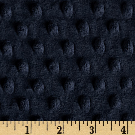 Minky Cuddle Dimple Dot Navy Fabric By The Yard