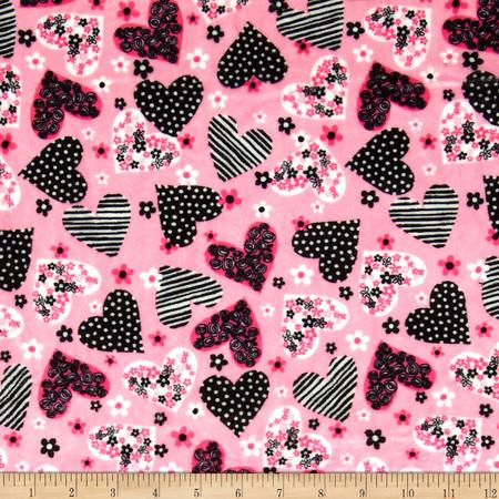 Minky Cuddle Ooh La La OH Adore Hot Pink Fabric