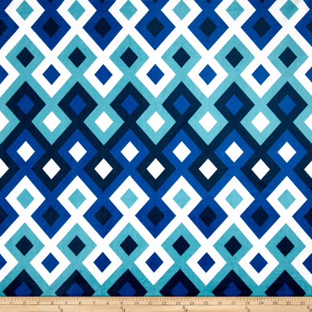 Minky Deco Blue Fabric By The Yard