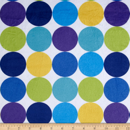Minky Discus Blue/Green Fabric By The Yard