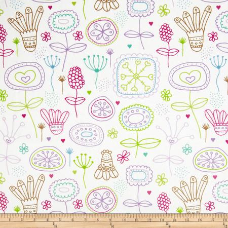 Minky Kinder Fushcia Fabric