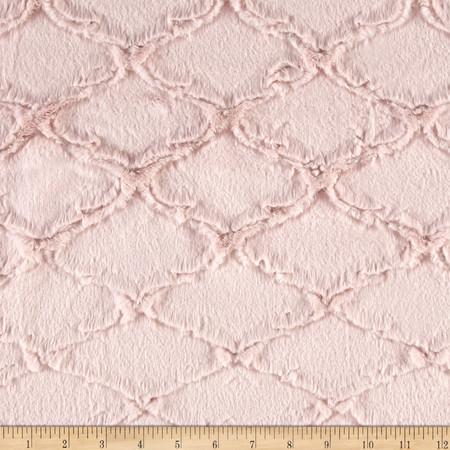 Minky Lattice Soft Cuddle Rose Water Fabric By The Yard