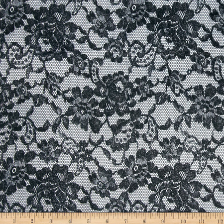 Minky Midnight Lace Black Fabric By The Yard