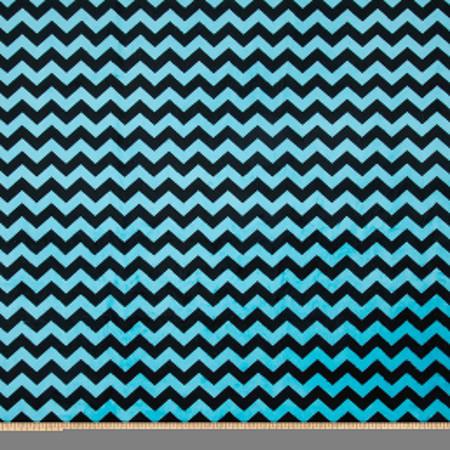 Minky Mini Chevron Turquoise/Black Fabric
