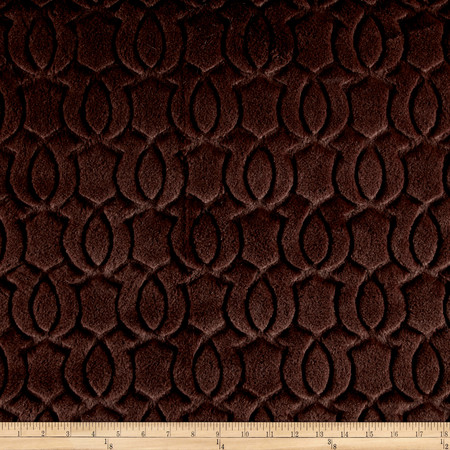 Minky Moscow Snuggle Espresso Fabric By The Yard