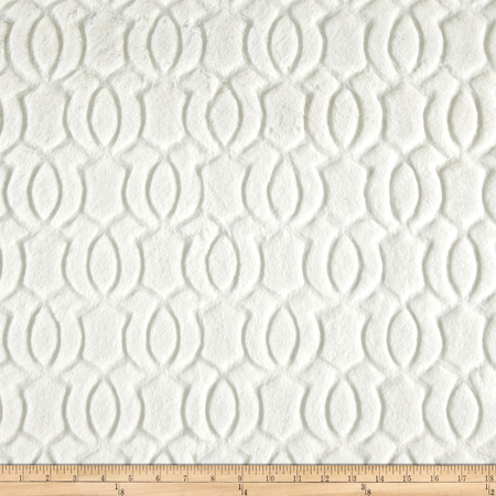 Minky Moscow Snuggle Ivory Fabric By The Yard