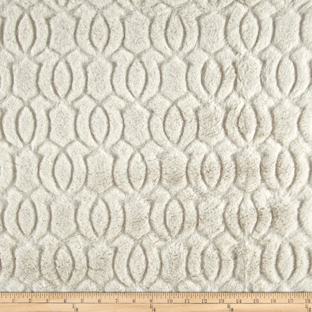 Minky Moscow Snuggle Platinum Fabric By The Yard