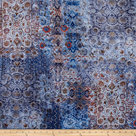 Minky Mystik Denim Blue Fabric By The Yard