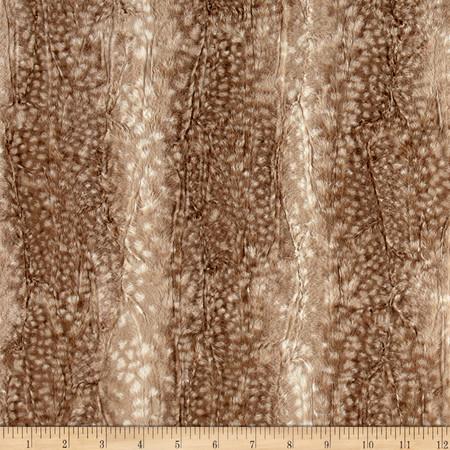 Minky Ocelot Snuggle Fawn Fabric
