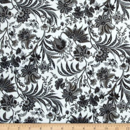 Minky Paris Black Fabric By The Yard