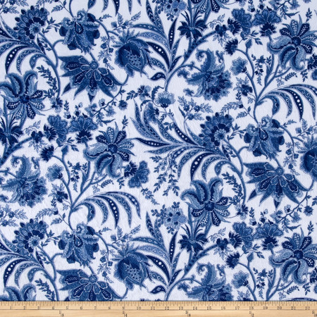 Minky Paris Blue Fabric By The Yard