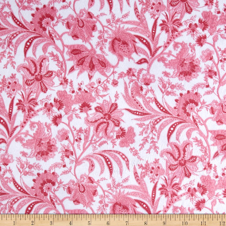 Minky Paris Pink Fabric