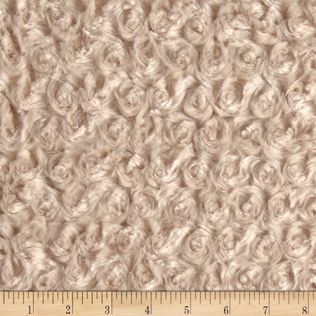 Minky Rose Cuddle Camel Fabric By The Yard
