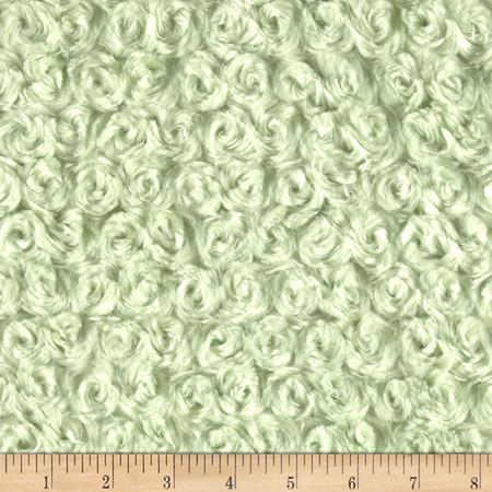 Minky Rose Cuddle Sage Fabric