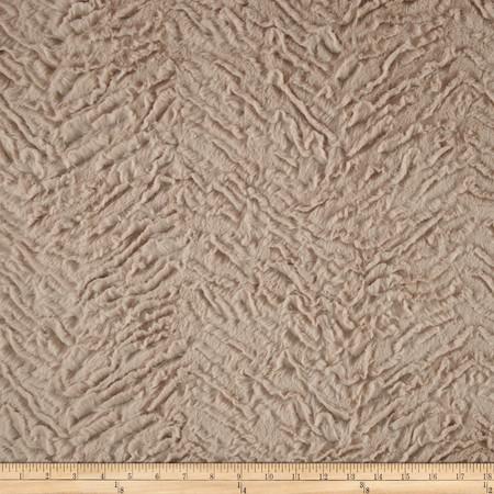 Minky Soft Bengal Cuddle Beige Fabric