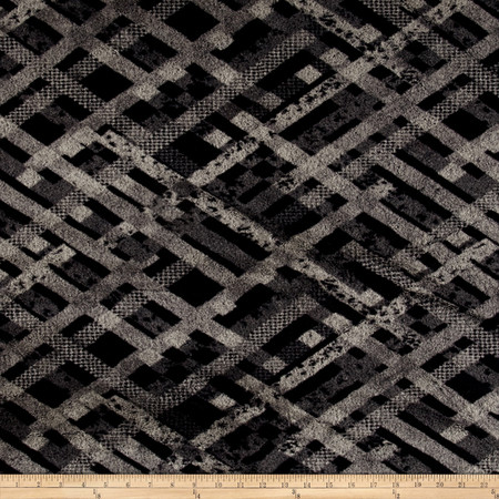 Minky Soft Cuddle Brittany Beige & Black Fabric