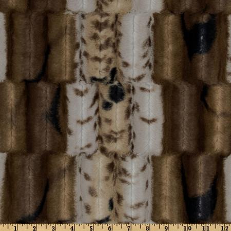 Minky Soft Cuddle Fancy Leopard Silver/Brown Fabric By The Yard