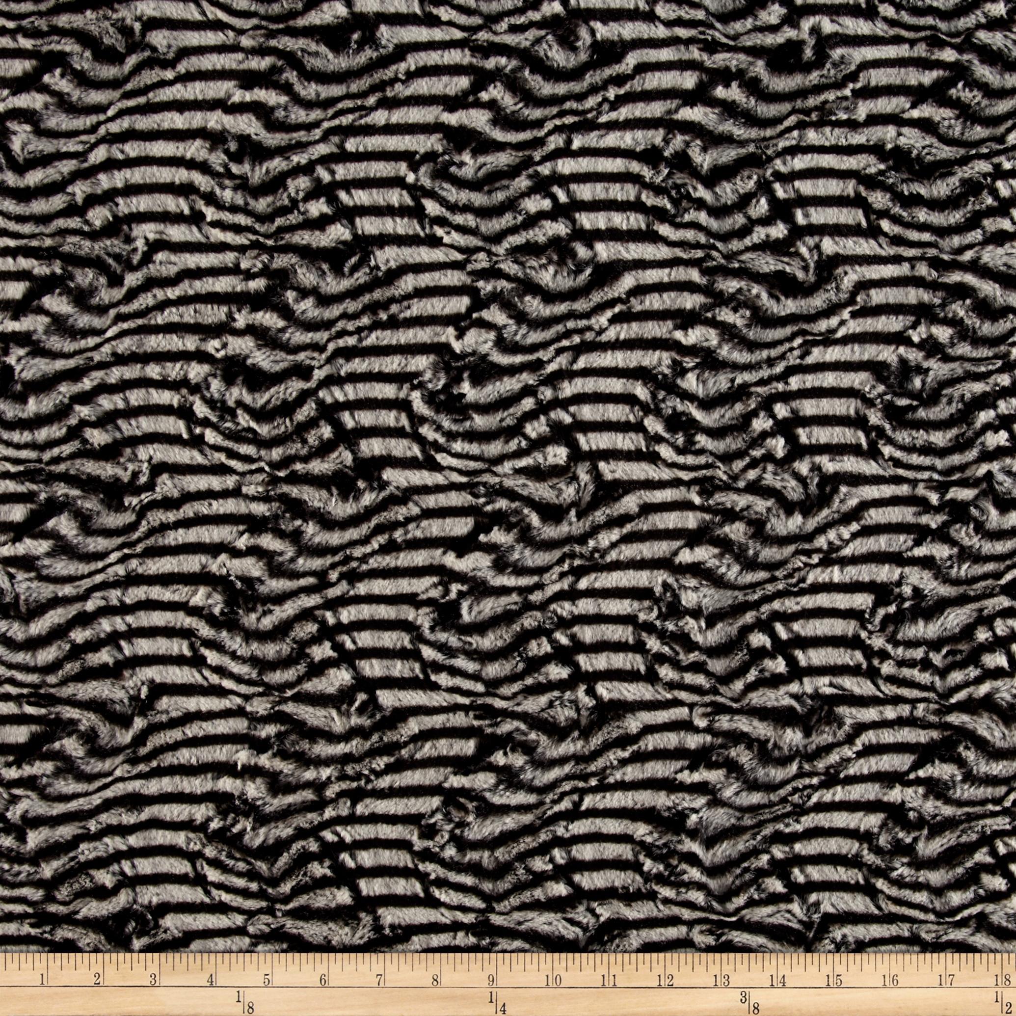 Minky Soft Cuddle Plume Beige/Black Fabric