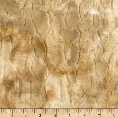 Minky Soft Cuddle Rabbit Beige Fabric By The Yard