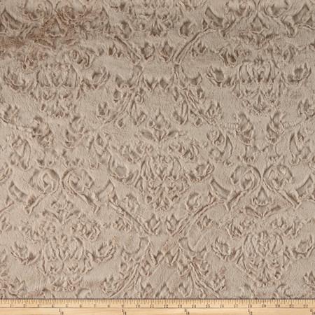 Minky Soft Dynasty Cuddle Beige Fabric